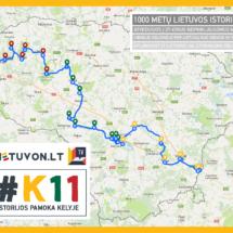 Maršrutas per Lietuvą K11