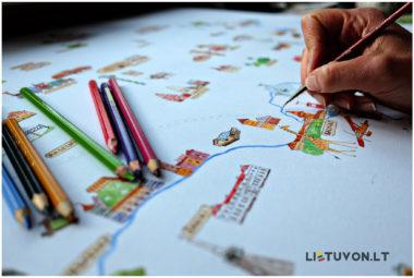 Lietuvos žemėlapis vaikams